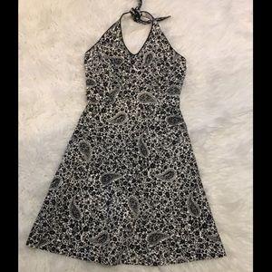 Ann Taylor Black&White Paisley Print Dress 2P